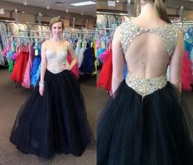 Open Back Prom Dress..