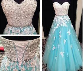 Blue Prom Dress, Swe..