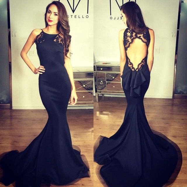 Elegant Backless Prom Dresses