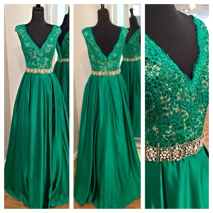 Glamorous Prom Dress,Green Prom Dress,Lace Prom Dress,Beaded Prom ...
