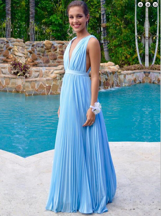 Charming Prom Dress,V-Neck Prom Dress,A-Line Prom Dress,Chiffon Prom Dress,Noble Prom Dress