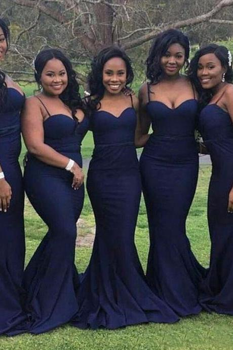 Navy Blue Bridesmaid Dresses, Simple Bridesmaid Dress,Off Shoulder Evening Dresses ,Wedding Party Dress