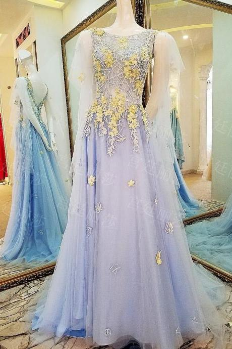 Tulle Prom Dresses,Lace Prom Dress