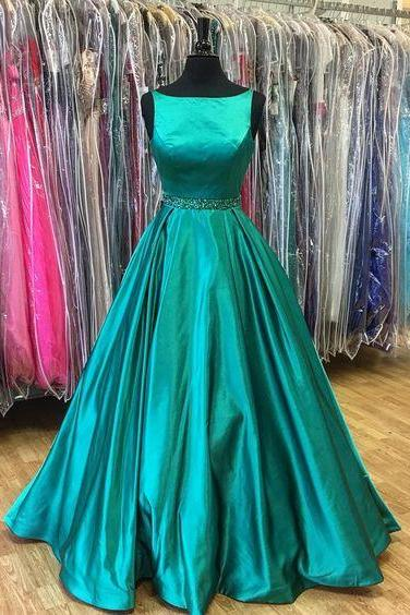 2017 Prom Dress,Long Prom Dress,Dark Teal Green Prom Dress,Formal Evening Dress, Prom Dress for Teens, Senior Prom Dress, Sweet 16 Dress