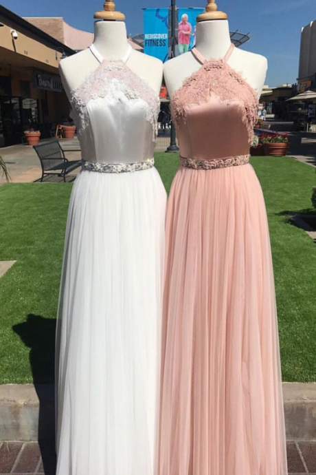 Cheap prom dresses ,unique tulle lace long prom dress, lace evening dress for teens