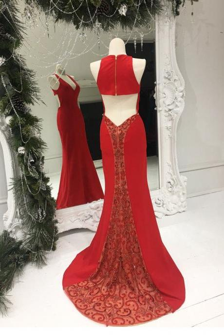Mermaid Red Prom Dress,Long Prom Dresses,Prom Dresses,Evening Dress, Evening Dresses