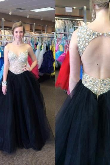 Open Back Prom Dress, Off Shoulder Prom Dress, Black Prom Dress, Gorgeous Prom Dress, Backless Prom Dress, A Line Prom Dress, Sleeveless Prom Dress, Popular Prom Dress, Evening Dress, Occasion Dress