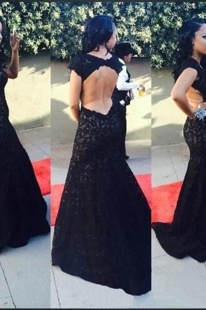 Lace Appliqués Plunge V Shoulder Straps Chiffon Floor Length A-Line Formal Dress, Prom Dress