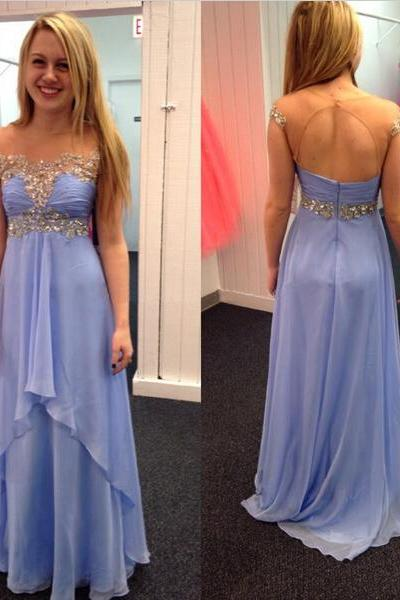 Cap Sleeve Prom Dress, Lovely Prom Dress, Formal Prom Dress, Floor-Length Prom Dress, Handmade Prom Dress, Custom Prom Dress