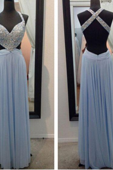Charming Prom Dress,V-Neck Prom Dress,Noble Prom Dress,Beading Prom Dress,A-Line Evening Dress