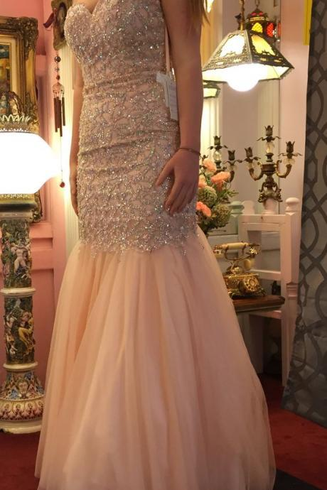 Luxury Beaded Mermaid Prom Dress,Sweetheart Prom Dress,Mermaid Prom Gown for Juniors,Mermaid Evening Dress for Women,Formal Dress for Women Evening ,Formal Gown,Long Pageant Dress,Homecoming Dress
