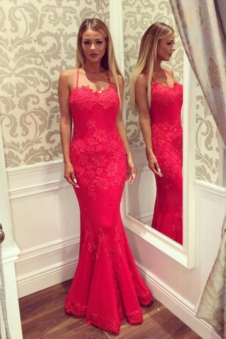 Halter Long Fitted Prom Dress,Fushia Mermaid Prom Dress,Appliques Lace Prom Dress,High Quality Prom Dress,Homecoming Dress,Party Dress for Women ,Prom Dress for Junior ,Formal Evening Dress,Wedding Party Dress,Bodycon Dress