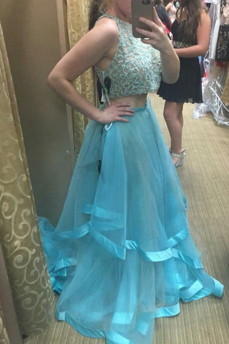 New Arrival Sexy Prom Dress, Prom Dresses,2017 2 Pieces Prom Dress Evening Gown Pageant Dress