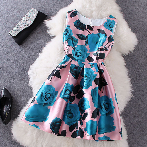 Floral Printed Homecoming Dress 2017,Homecoming Dress Short,Homecoming Dress for Juniors,Prom Dress Short ,Party Dress