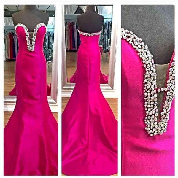 Sweet Heart Prom Dress, Rose Red Prom Dress, Mermaid Dress, Evening Dress, Party Dress, Elegant Prom Dress, Modest Prom Dress