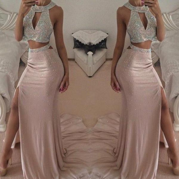 Sexy Prom Dress, Two Piece Prom Dress, Evening Dress, Sparkly Prom Dress, Long Prom Dress, 2015 Prom Dress