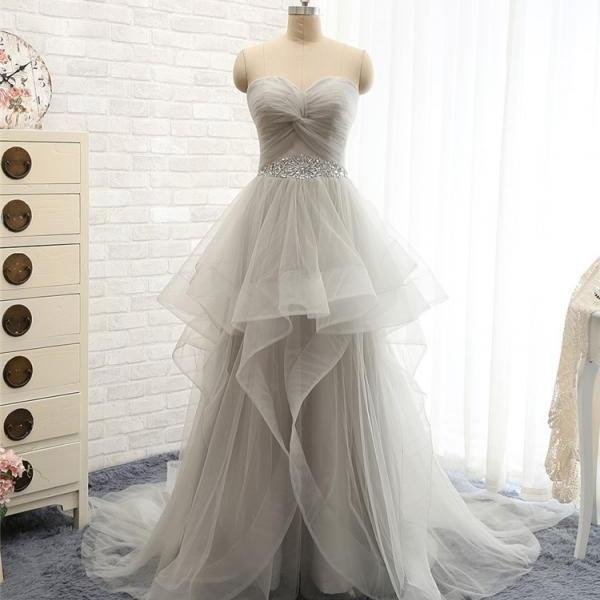 Charming Prom Dress,Sweetheart Prom Dress,A-Line Prom Dress,Tulle Prom Dress,Beading Evening Dress