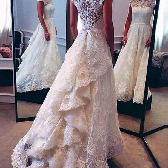 Vintage Lace Wedding Dress, Bridal Gown,Wedding Dress for Bride ,Bridal Dress for Women ,Wedding Dress Plus Size ,Wedding Dress Costume LB018