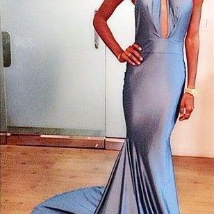 high neck prom dresses,mermaid prom dresses,blue prom dresses,evening dresses long